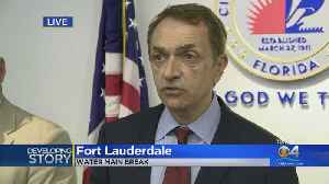Web Extra: Ft. Lauderdale News Conference On Water Outage [Video]