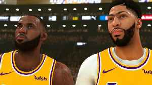 News video: Lebron James TESTS Lakers NEW Roster By Playing NBA 2K With Anthony Davis & Demarcus Cousins!