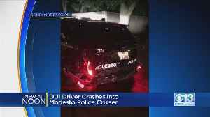DUI Driver Accused Of Rear-Ending Modesto Police Patrol Car, Running From Scene [Video]