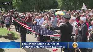 Thousands Attend Burial Of Vietnam Veteran With No Family [Video]