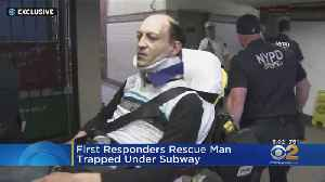 First Responders Rescue Man Trapped Under Subway [Video]