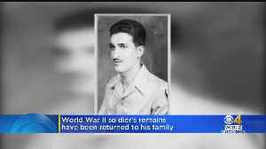 World War II Soldier Returns Home To Be Laid To Rest With Family [Video]