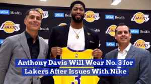 Anthony Davis Has To Settle For A Different Jersey Number [Video]