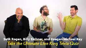 Seth Rogen, Billy Eicher, and Keegan-Michael Key Played Lion King Trivia and I Can't Stop Laughing [Video]