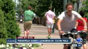Pedestrian safety concerns by Coors Field [Video]