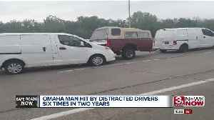 Omaha man hit by distracted driver six times in two years [Video]
