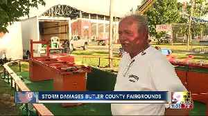 Storm topples tents, knocks over ride at Butler County Fairgrounds [Video]