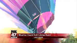 Jubilee hot air balloons grounded for heat [Video]