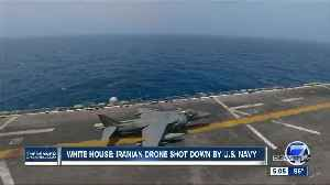 News video: Trump: US 'destroyed' Iranian drone near USS Boxer