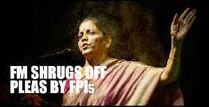 Super-rich tax: FM Sitharaman shrugs off pleas by FPIs, suggests a way out [Video]