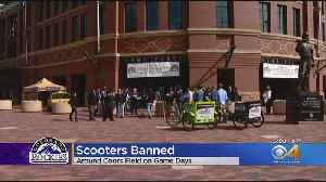 Scooters Banned Around Coors Field On Game Days [Video]