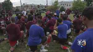 2 Local High School Football Teams Put Rivalry Aside For Practice For Peace [Video]