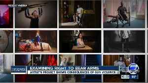 Aurora Theater Shooting survivor poses in photos exploring the cost of the right to bear arms [Video]