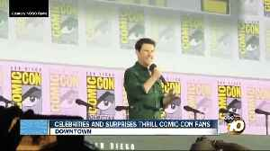 Celebrities and surprises thrill Comic-Con fans [Video]
