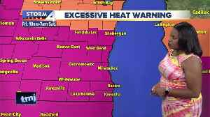 News video: Excessive Heat Warning in effect Friday; feels like temps approaching 110