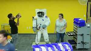 Watch: LEGO celebrate moon-landing with life-sized model astronaut [Video]