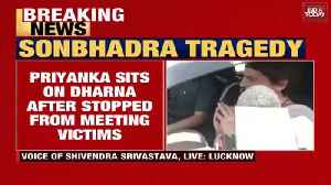 News video: Sonbhadra tragedy: Priyanka Gandhi stopped in Mirzapur