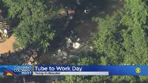 Hundreds Float Down Boulder Creek For 'Tube To Work Day' [Video]