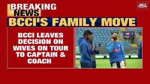 BCCI authorizes Indian captain and coach to decide WAGs time [Video]