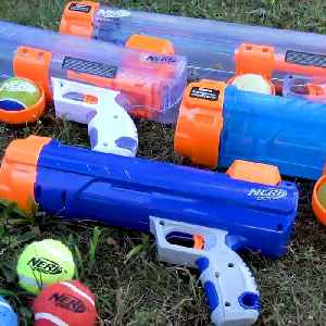This Nerf Tennis Blaster is a portable tennis ball cannon [Video]