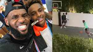 Bronny James & Shareef O'Neal Have A Dunk Off In Lebron's Yard As He Secretly Films It All [Video]