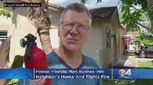 Heroic Florida Man Rushes Into Neighbor's Home & Fights Fire [Video]
