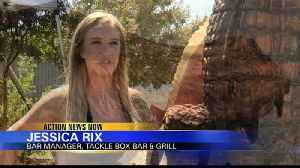 Tackle Box commissions 14 foot tall wooden sculpture made of wood from Camp Fire burn area [Video]