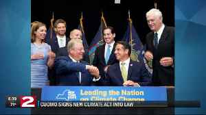 Governor Cuomo signs new climate act into law [Video]