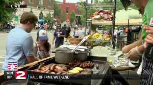 Sizzling in Cooperstown for Baseball HOF Induction Weekend [Video]
