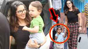 Sunny Leone CUTE Moment With Nisha Kaur Weber And Two Sons | Spotted In Playschool [Video]