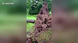 A rare tornado hit an area outside Manchester in the UK [Video]