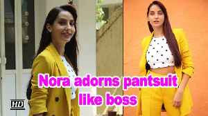'Saki Saki' girl Nora Fatehi adorns pantsuit like boss [Video]