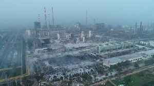 Aerial footage reveals ruins of gas plant after powerful blast [Video]