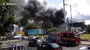 Fire opposite Dudley Road hospital sends black smoke across Birmingham, England [Video]