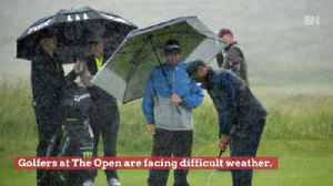 News video: Golfers At The 2019 British Open Face Very Difficult Weather