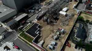WATCH: Drone video of massive fire at Madison Gas & Electric substations [Video]