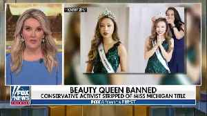 News video: The Miss World America Organization strips conservative activist Kathy Zhu