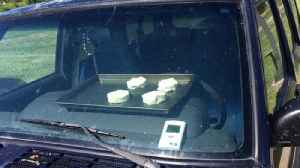 News video: It's So Hot National Weather Service Baked Biscuits In A Parked Car