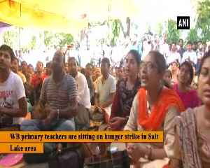 West Bengal primary teachers protest against the state government [Video]