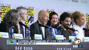 Comic-Con Day 3: Sir Patrick Stewart surprises Star Trek fans [Video]