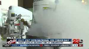 Celebrating National Ice Cream Day with ice cream made with liquid nitrogen [Video]