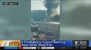 Firefighters Injured In Bronx Blaze [Video]