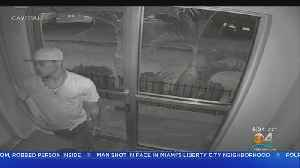 Surveillance Footage Shows Suspect In Hollywood Motel Robbery [Video]