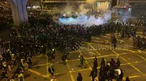 News video: Tear gas fired at Hong Kong pro-democracy protesters