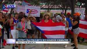 News video: Protest calls for Puerto Rico Governor resignation