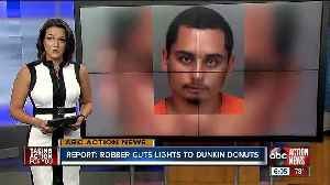 'Tight on money:' Pinellas man accused of shutting off power to Dunkin Donuts in robbery attempt [Video]