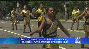 Rep. Pressley Returns Home For Unity Parade After Being Attacked by Trump [Video]