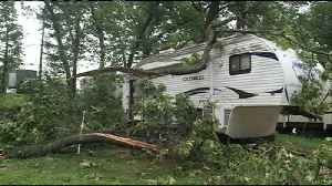 Downed trees damage Galesville campground during storm [Video]