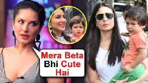 Sunny Leone ANGRY REACTION On Her Son Being Compared To Taimur Ali Khan [Video]