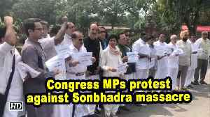 Congress MPs protest against Sonbhadra massacre [Video]